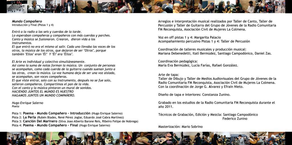 Interior CD - Los Ojos de Reconquista